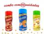 Combo Popcorn - 03 Sabores - Cheddar, Parmesão e Alho e Presunto