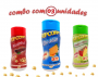 Combo Popcorn - 03 Sabores - Cheddar, Picanha e Tomate e Queijo