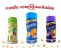 Combo Popcorn - 03 Sabores - Cheddar, Pimenta e Limão e Queijo Nacho