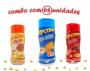 Combo Popcorn - 03 Sabores - Cheddar, Pizza e Bacon