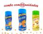 Combo Popcorn - 03 Sabores - Cheddar, Queijo e Parmesão e Alho