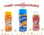 Combo Popcorn - 03 Sabores - Cheddar, Sal Popcorn e Sal do Himalaia