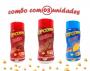 Combo Popcorn - 03 Sabores - Churrasco, Bacon e Queijo