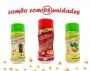 Combo Popcorn - 03 Sabores - Churrasco, Cebola e Salsa e Ervas Finas