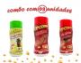 Combo Popcorn - 03 Sabores - Churrasco, Ervas Finas e Picanha