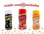 Combo Popcorn - 03 Sabores - Churrasco, Flavapop Manteiga e Sal Popcorn
