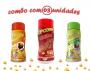 Combo Popcorn - 03 Sabores - Churrasco, Molho Mexicano e Pimenta e Limão
