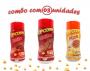 Combo Popcorn - 03 Sabores - Churrasco, Pizza e Bacon