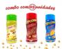 Combo Popcorn - 03 Sabores - Churrasco, Queijo e Parmesão e Alho