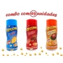 Combo Popcorn - 03 Sabores - Frango Assado, Bacon e Queijo
