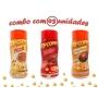 Combo Popcorn - 03 Sabores - Frango Assado, Pizza e Bacon