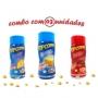 Combo Popcorn - 03 Sabores - Manteiga, Bacon e Queijo
