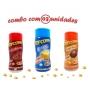 Combo Popcorn - 03 Sabores - Manteiga, Calabresa e Frango Assado