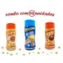 Combo Popcorn - 03 Sabores - Manteiga, Frango Assado e Pizza