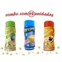 Combo Popcorn - 03 Sabores - Manteiga, Molho Mexicano e Pimenta e Limão