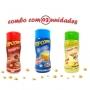 Combo Popcorn - 03 Sabores - Manteiga, Parmesão e Alho e Presunto