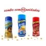 Combo Popcorn - 03 Sabores - Manteiga, Parmesão e Churrasco