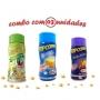 Combo Popcorn - 03 Sabores - Manteiga, Pimenta e Limão e Queijo Nacho