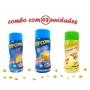 Combo Popcorn - 03 Sabores - Manteiga, Queijo e Parmesão e Alho