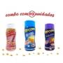 Combo Popcorn - 03 Sabores - Manteiga, Queijo Nacho e Sal do Himalaia