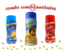Combo Popcorn - 03 Sabores - Parmesão, Bacon e Queijo