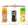 Combo Popcorn - 03 Sabores - Parmesão e Alho, Flavapop Manteiga e Sal Popcorn