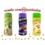 Combo Popcorn - 03 Sabores - Parmesão e Alho, Pimenta e Limão e Queijo Nacho