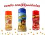 Combo Popcorn - 03 Sabores - Parmesão, Pizza e Bacon