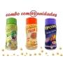 Combo Popcorn - 03 Sabores - Pizza, Pimenta e Limão e Queijo Nacho