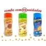 Combo Popcorn - 03 Sabores - Pizza, Queijo e Parmesão e Alho