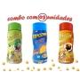 Combo Popcorn - 03 Sabores - Queijo, Molho Mexicano e Pimenta e Limão