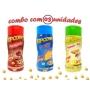 Combo Popcorn - 03 Sabores - Queijo, Parmesão e Alho e Presunto