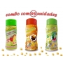 Combo Popcorn - 03 Sabores - Tomate e Queijo, Molho Mexicano e Pimenta e Limão