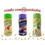 Combo Popcorn - 03 Sabores - Tomate e Queijo, Pimenta e Limão e Queijo Nacho