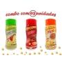 Combo Popcorn - 03 Sabores - Tomate e Queijo, Pizza e Bacon