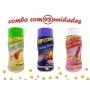 Combo Popcorn - 03 Sabores - Tomate e Queijo, Queijo Nacho e Sal do Himalaia