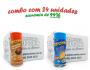 TEMPEROS P/ PIPOCA - CAIXA 24 FRASCOS - 12 FRANGO ASSADO - 12 QUEIJO