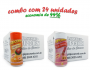 TEMPEROS P/ PIPOCA - CAIXA 24 FRASCOS - 12 FRANGO ASSADO - 12 SAL DO HIMALAIA