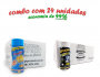 TEMPEROS P/ PIPOCA - Cx 24 FRASCOS - 12 4 QUEIJOS  - 12 FLAVAPOP MANTEIGA