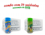 TEMPEROS P/ PIPOCA - Cx 24 FRASCOS - 12 4 QUEIJOS  - 12 PIMENTA E LIMÃO