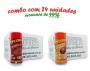 TEMPEROS P/ PIPOCA - Cx 24 FRASCOS - 12 CALABRESA  - 12 FRANGO ASSADO