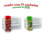 TEMPEROS P/ PIPOCA - Cx 24 FRASCOS - 12 CALABRESA  - 12 PARMESÃO E ALHO