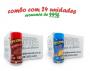 TEMPEROS P/ PIPOCA - Cx 24 FRASCOS - 12 CALABRESA  - 12 QUEIJO