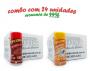 TEMPEROS P/ PIPOCA - Cx 24 FRASCOS - 12 CALABRESA  - 12 SAL POPCORN