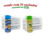 TEMPEROS P/ PIPOCA - Cx 24 FRASCOS - 12 CHEDDAR - 12 CEBOLA E SALSA