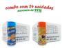 TEMPEROS P/ PIPOCA - Cx 24 FRASCOS - 12 CHEDDAR - 12 MOLHO MEXICANO