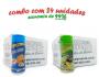 TEMPEROS P/ PIPOCA - Cx 24 FRASCOS - 12 CHEDDAR - 12 PARMESÃO E ALHO