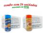 TEMPEROS P/ PIPOCA - Cx 24 FRASCOS - 12 CHEDDAR - 12 PIZZA