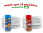 TEMPEROS P/ PIPOCA - Cx 24 FRASCOS - 12 CHEDDAR - 12 PRESUNTO