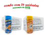 TEMPEROS P/ PIPOCA - Cx 24 FRASCOS - 12 CHEDDAR - 12 SAL POPCORN